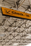 Check-in sign Royalty Free Stock Photos