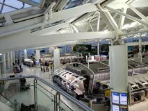 Check-in Stands at JFK stock photography