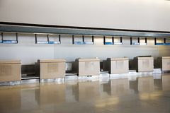 Check-in station in airport. Stock Images