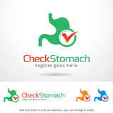 Check Stomach Logo Template Design Vector Stock Image