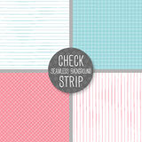 Check and Strip Seamless pattern. Geometrical vector background. Stock Photography