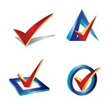 Check symbol. 3d check symbol vector logo icon illustration stock illustration