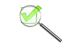Check in symbol Stock Images