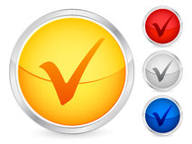 Check symbol button Royalty Free Stock Photography