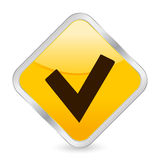 Check symbol yellow icon Stock Images