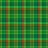 Check tartan plaid fabric seamless pattern texture background - green, red and yellow color Stock Photography