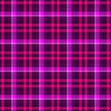 Check tartan plaid scotch fabric seamless pattern texture background - dark purple, hot pink and magenta color Royalty Free Stock Photos