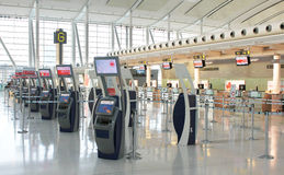 Check-in terminals Stock Images