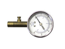 Check tire pressure. Check the tire pressure for safety Royalty Free Stock Photography