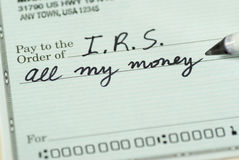 Check to Internal Revenue Service Stock Photography