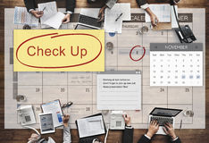 Check up Event To Do List Headline Concept Stock Photography