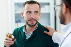 Check-up of Middle-aged Patient Royalty Free Stock Image