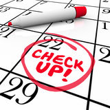 Check-Up Words Calendar Reminder Appointment Exam Schedule Stock Image