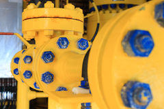 Check valve in a production facility to control flow direction Royalty Free Stock Photography