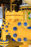 Check valve in a production facility to control flow direction Stock Photography