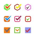 Check vote icon button. Check box vector icon button isolated. Check vote icon mark sign choice yes symbol. Correct design check icon mark right agreement voting Royalty Free Stock Image
