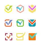 Check vote icon button. Check box vector icon button . Check vote icon mark sign choice yes symbol. Correct design check icon mark right agreement voting form Royalty Free Stock Photography