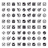Check vote icons vector set. Stock Images