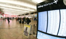 Check-in in Wiena airport - departure Stock Photo