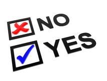 Check yes no Stock Images