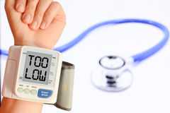 Check your blood pressure and pulse to prevent heart problems Stock Images