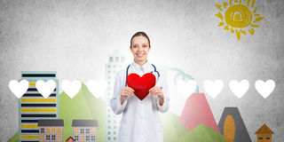 Check your heart health Stock Images