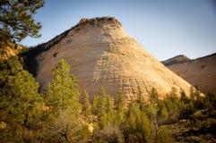 Checkboard Mesa στο εθνικό πάρκο Zion στοκ φωτογραφίες