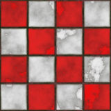 Checkboard tiles. Checker board  tile seamless background in grunge style Royalty Free Stock Photo
