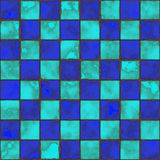 Checkboard tiles. Checker board  tile seamless background in grunge style Stock Images