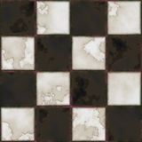 Checkboard tiles. Black And White tile seamless background in grunge style Royalty Free Stock Photography