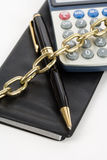 Checkbook and Chain Stock Photos