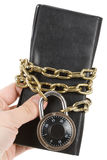 Checkbook and Chain Stock Images