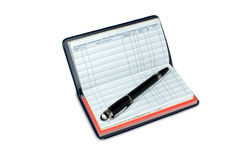 Checkbook Registry Blank. Checkbook registry is blank so designer may add appropriate type into register, and balancing checking account. Clipping path attached stock image