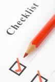 Checkbox Royalty-vrije Stock Afbeeldingen