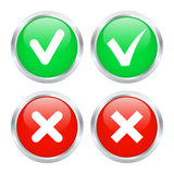 Checkbox buttons Royalty Free Stock Photo