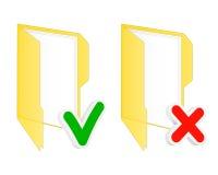 Checkbox folder icons Stock Images