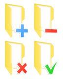 Checkbox folder icons Royalty Free Stock Images