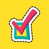 Checkbox gestikte illustratie van de kader vlakke kleur vector illustratie