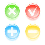 Checkbox glassy buttons Stock Photo