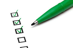 Checkbox with green tick Stock Image