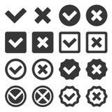Checkbox Icon Set. Vector Royalty Free Stock Photos