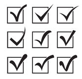Checkbox icons Royalty Free Stock Images