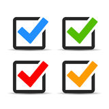 Checkbox icons Royalty Free Stock Photos