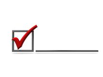 Checkbox with red tick Royalty Free Stock Photography