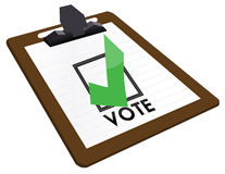 Checkbox Vote Royalty Free Stock Photography