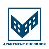 Checkbox w postaci budynku Fotografia Royalty Free