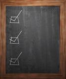 Checkboxes on Blackboard Stock Photo