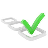 Checkboxes Royalty Free Stock Photo