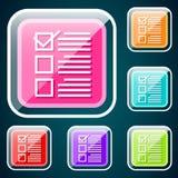 Checkboxsymbol Fotografering för Bildbyråer