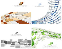 Checked background. Abstract 3d checked  business background for use in web design Royalty Free Stock Photo
